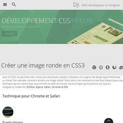 Des images rondes en CSS3