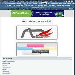 Des infobulles en CSS3