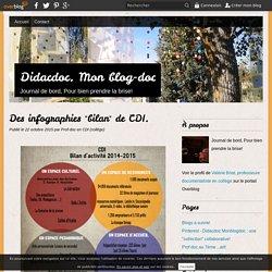 "Des infographies ""bilan"" de CDI."
