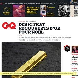 Des KitKat recouverts d'or pour Noël