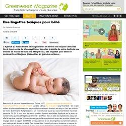 Des lingettes toxiques pour bébé