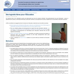 Des logiciels libres pour l'Éducation