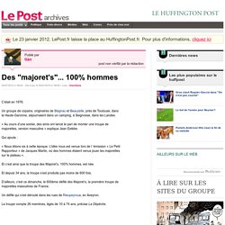"""Des """"majoret's""""... 100% hommes - tian sur LePost.fr (18:52)"""
