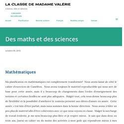Des maths et des sciences