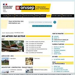 Des métiers par secteur - Onisep