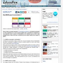 Des MOOC pour le secondaire