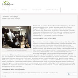 Des MOOCs au Congo