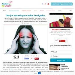 Des jus naturels pour traiter la migraine
