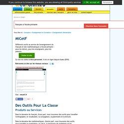 Des Outils Pour La Classe : MiCetF
