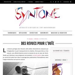 [FR]Syntone - actualité & critique de l'art radiophonique