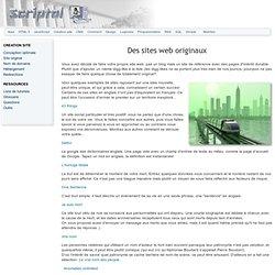 Des sites web originaux