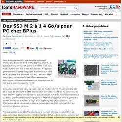 Des SSD M.2 à 1,4 Go/s pour PC chez BPlus