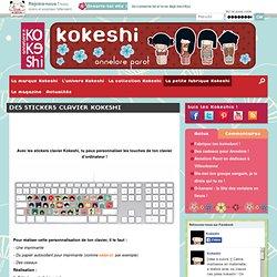 Des stickers clavier Kokeshi - Kokeshi