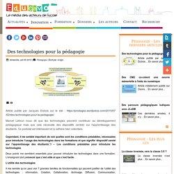 Des technologies pour la pédagogie