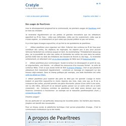Des usages de Pearltrees « Cratyle.net