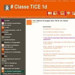 Des vidéos d'usages des TICE en classe