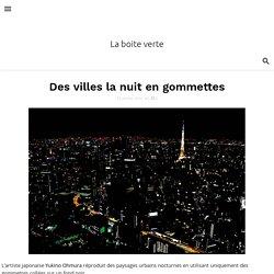 Des villes la nuit en gommettes