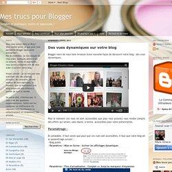 Des vues dynamiques sur votre blog