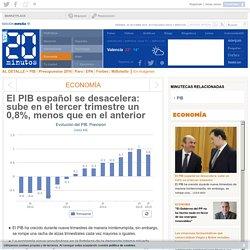 El PIB español se desacelera: sube en el tercer trimestre un 0,8%, menos que en el anterior