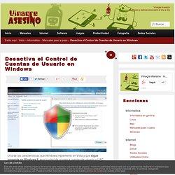 Activa o desactiva el Control de Cuentas de Usuario en Windows