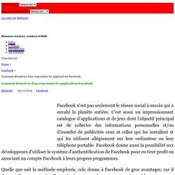 Comment désactiver d'un coup toutes les applications Facebook
