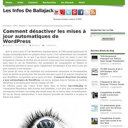 Comment désactiver les mises à jour automatiques de WordPress