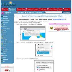 Désactiver les annonces publicitaires des contacts - Skype