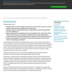 Nuclear Desalination - World Nuclear Association