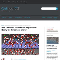 New Graphene Desalination Requires<br> Nearly 100 Times Less Energy