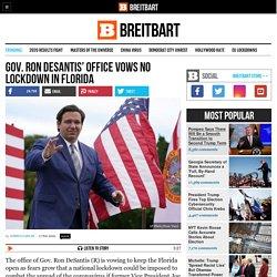 Gov. Ron DeSantis' Office Vows No Lockdown in Florida