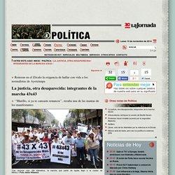 La justicia, otra desaparecida: integrantes de la marcha 43x43