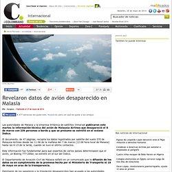 Revelaron datos de avión desaparecido en Malasia