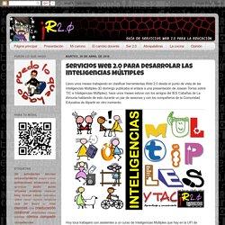 Servicios Web 2.0 para desarrolar las Inteligencias Múltiples
