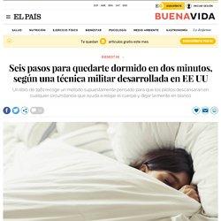 Seis pasos para quedarte dormido en dos minutos, según una técnica militar desarrollada en EE UU