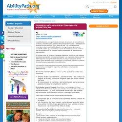 Desarrollando habilidades tempranas de alfabetización