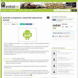 Aprender a programar y desarrollar aplicaciones Android