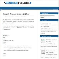 Desarrollar Aplicaciones: Tutorial Django: Crear plantillas