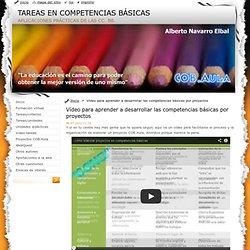 Vídeo para aprender a desarrollar las competencias básicas por proyectos