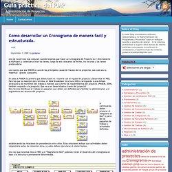 Como desarrollar un Cronograma de manera facil y estructurada. « Guía practica del PMP