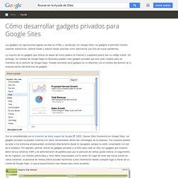Cómo desarrollar gadgets privados para Google Sites - Ayuda de Sites