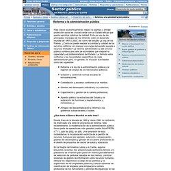 Desarrollo del sector público - Reforma a la administración pública