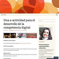 Una e-actividad para el desarrollo de la competencia digital