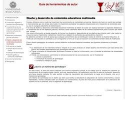 Diseño y desarrollo de contenidos educativos multimedia