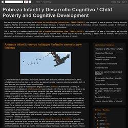 Pobreza Infantil y Desarrollo Cognitivo / Child Poverty and Cognitive Development: mayo 2011