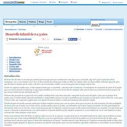 Desarrollo Infantil de 0 a 3 años - Monografias.com