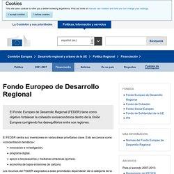 Fondo Europeo de Desarrollo Regional - Política Regional - Comisión Europea