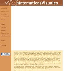 Desarrollos planos de cuerpos geométricos (7): Conos y troncos de conos