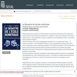 Le Désastre de l'école numérique, Philippe Bihouix, Documents - Seuil