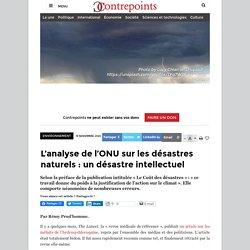 L'analyse de l'ONU sur les désastres naturels: un désastre intellectuel