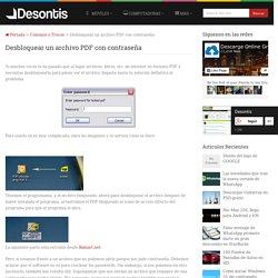 Desbloquear un archivo PDF con contraseña